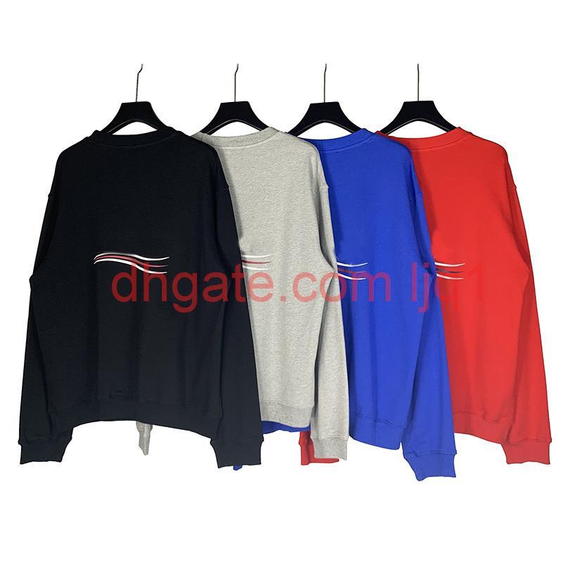 2020 19FW classico Paris flag corona ricamo felpa con cappuccio uomini donne donne pullover con cappuccio autunno inverno maglione outwear t05