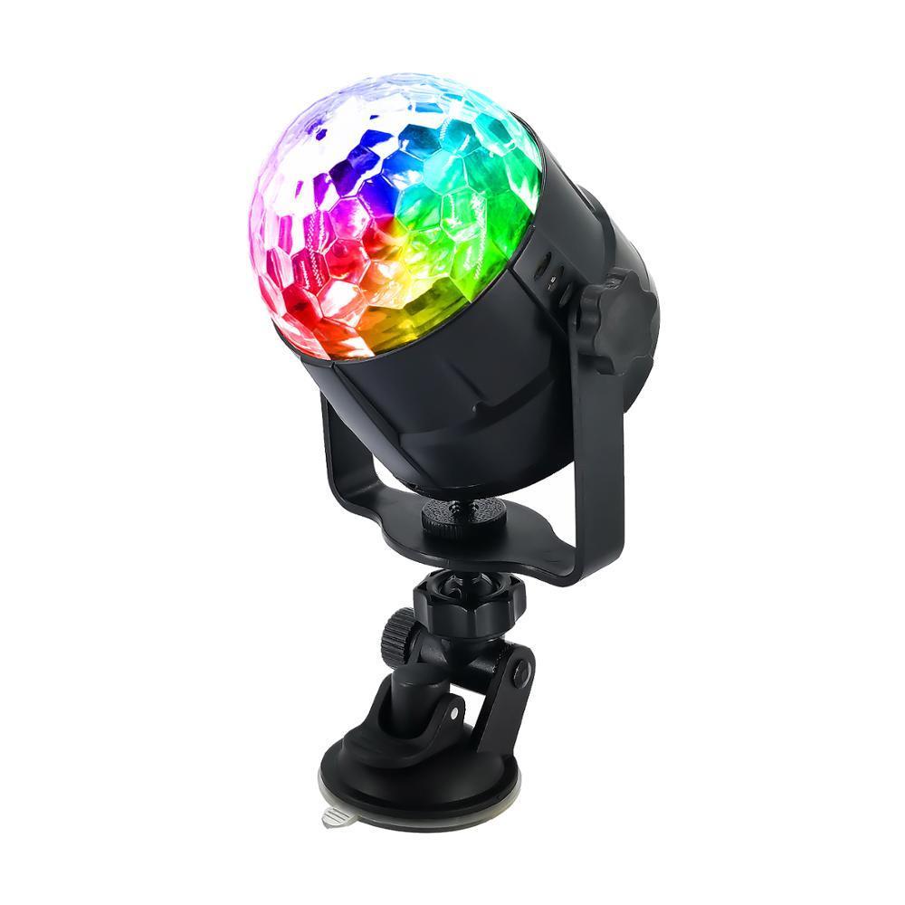 RGB Crystal Magic Ball KTV Party Auto USB-Fernbedienung Saugnapf Bunte rotierende Disco-Bühnenlicht
