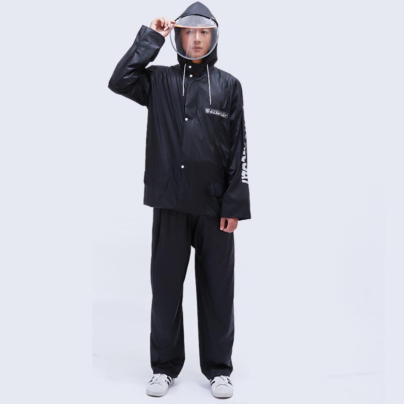 Yağmurluklar Su Geçirmez Motosiklet Yağmurluk Takım Elbise Erkekler Kullanımlık Moda Kapak Islak Hava Dişli Veste Pluie Hood Eb50Yy ile