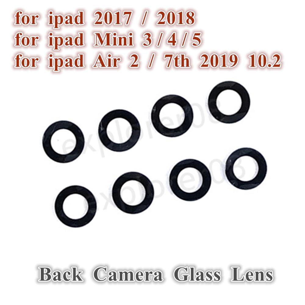 1PCS العائد الخلفي عدسة زجاج كاميرا بدون إطار ل iPad 2017 2018 الهواء 2 7th 10.2 2019 ميني 3 4 5 عدسة الكاميرا لا أجزاء استبدال الإطار
