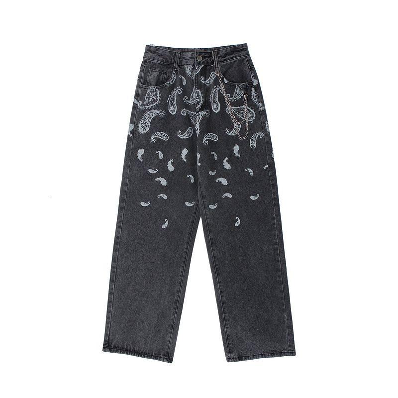 2021 Yeni Kiryaquy Lüks Batı Bölgesi Kanlar Pamuk Kot Kot Pantolon Comfort S-XL # D7 552i
