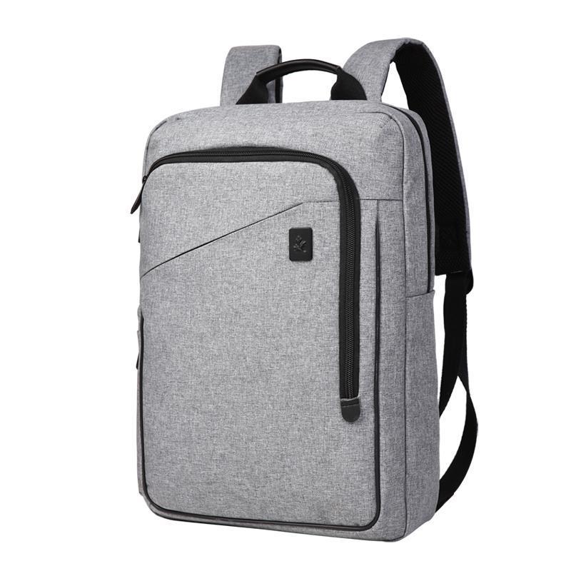 카이 싱글 / 더블 레이어 배낭 학교 사무실 캐주얼 가방 노트북 남자 비즈니스 여행 패션 스타일 책 가방 방수