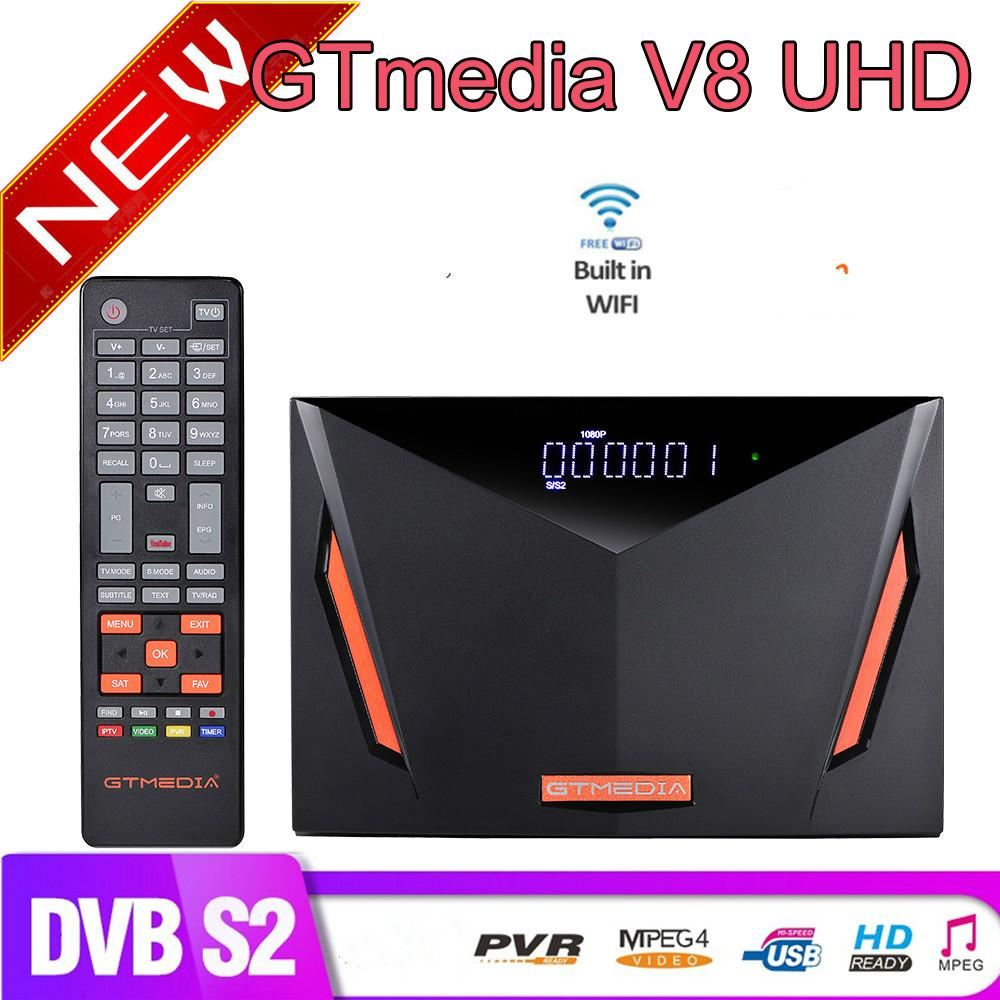 GTMedia V8 Set Top Box UHD DVB-S2 / S2X T / T2 / Cable / ATSC ISDBT Satellite TV Ricevitore integrato in WiFi Powered