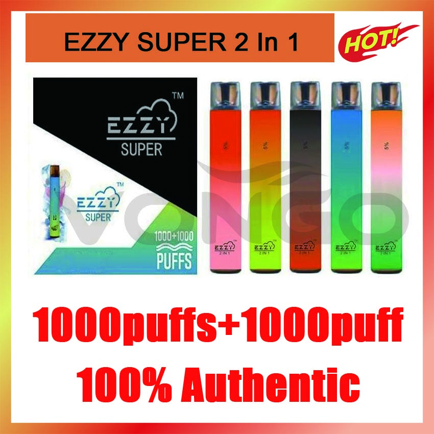 EZZZY SUPER 2 en 1 Kit de dispositivo vape desechable de diseño 2000puff 900mAh 6.5ml POD PROPLED VAPE PEN PK KANGVAPE ONEE BANG BAR PLUS XXL MAX FLOW