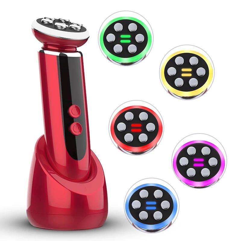 Yüz Cilt Bakımı için Temizleme Masajı RF Güzellik Cihazı Radyo EMS Mezoterapi Elektroporasyon LED Pon Yüz Cihazı