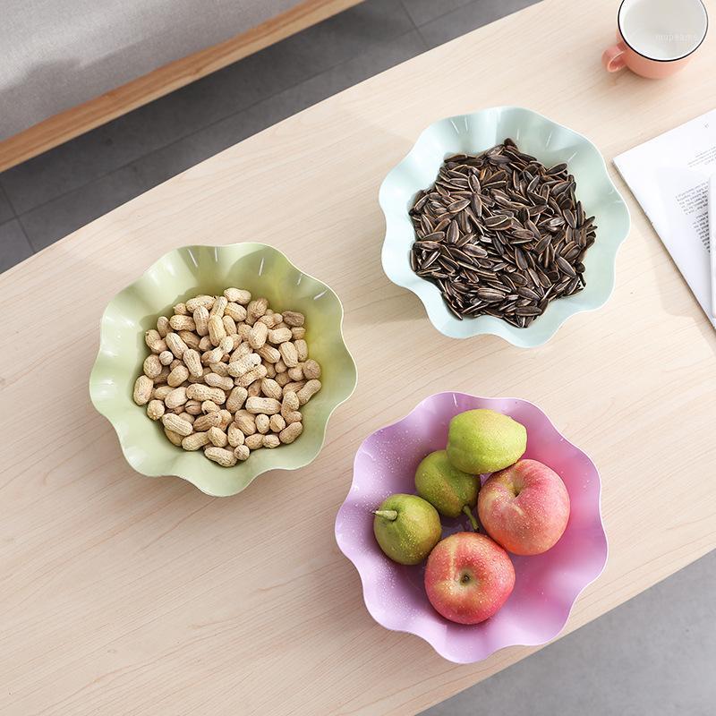 Бутылки для хранения Банки Творческий Европейский стиль пластиковая мебель настольный сухофрукционный лоток для фруктов офис розничная семена дыня плита кухонная пластина1