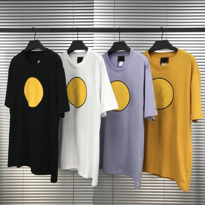 Erkek Tshirt Yüksek Sokak Tarzı Erkek Bayan Kısa Kollu Yuvarlak Boyun Pamuk Tee Asya Boyutu S-XL