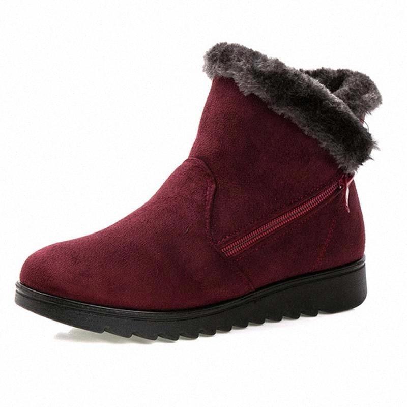 Зимние женщины хранят теплые снежные ботинки 2020 не скольжения повседневная квартира с теплыми женскими женскими сапогами ботинки обувь для голенолыжной женщины Botas Mujer # He3g