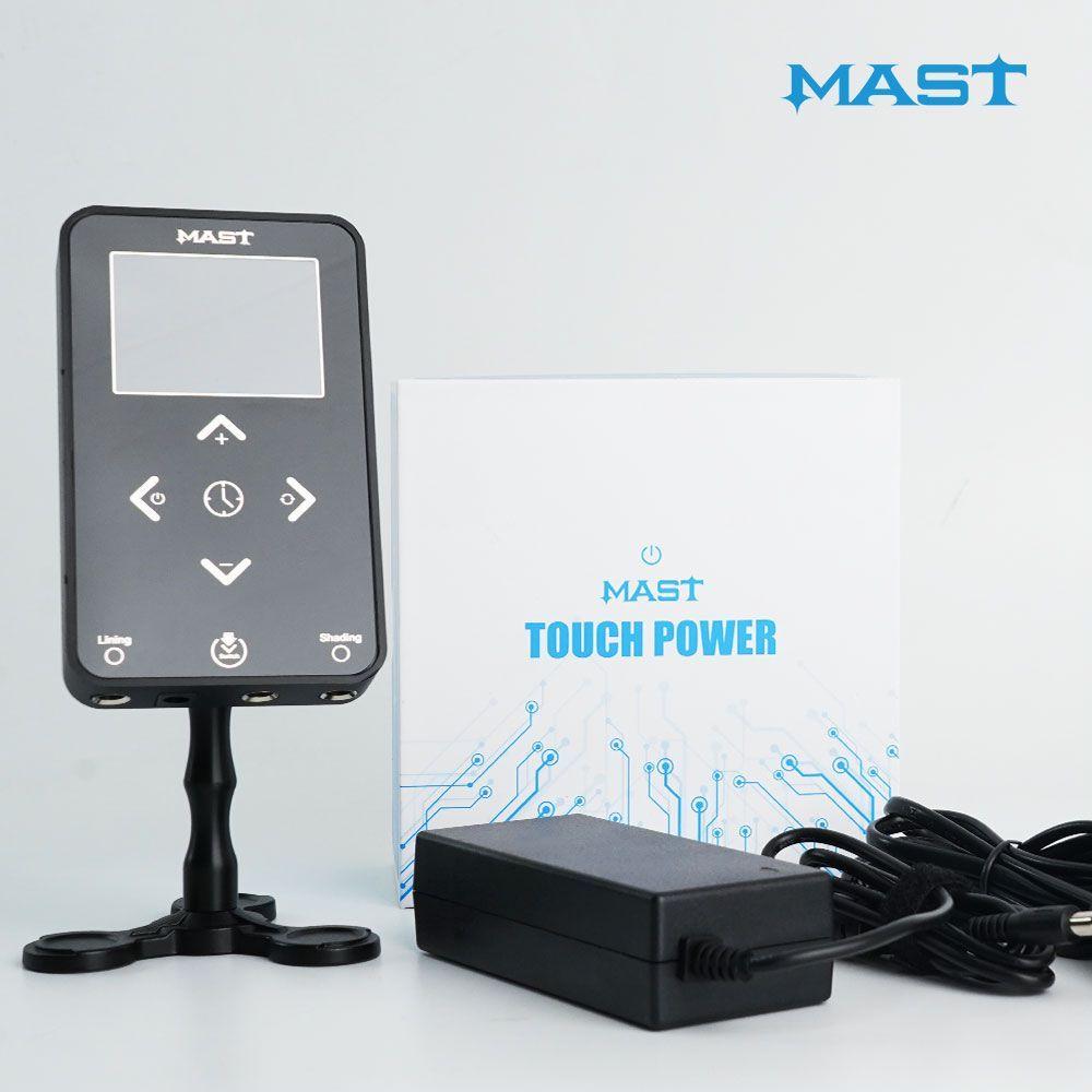 Mast Touch Tattoo Fornitura Portable Power Switch Adattatore Dual Mode Modalità LCD Touch Screen Amp Trasformatore P1118
