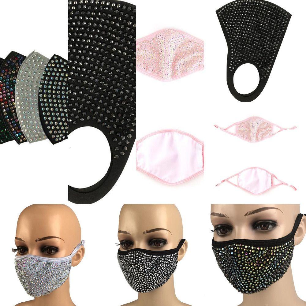 Maske Bling Toz Geçirmez Moda PM2.5 Koruyucu Elmas Bling Ağız Maskeleri Yıkanabilir Kullanımlık 5J21 LFXX1