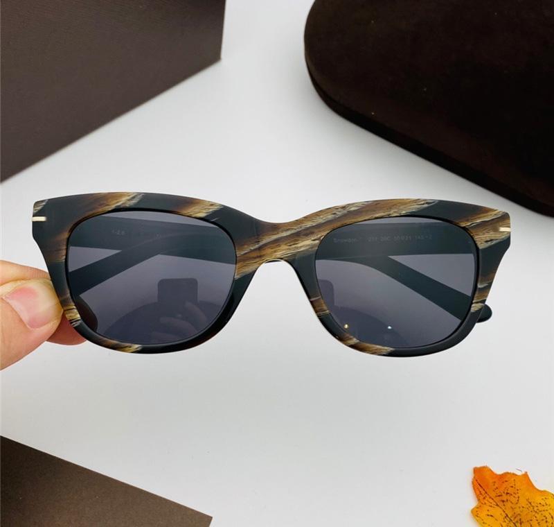 Neue Modedesigner Sonnenbrille 237 Protection Stripes gehobene Plankengläser einfache Atmosphäre Art Anti-UV400-Schutz mit Fall