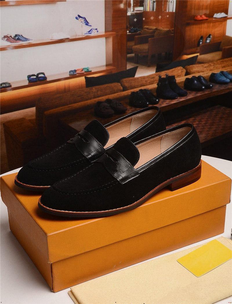 19mm lussuoso punta a punta uomo scarpa mocassini abiti fatti a mano scarpa appartamenti vintage nappa maschile pelle scarpa sepatu pria yecq5