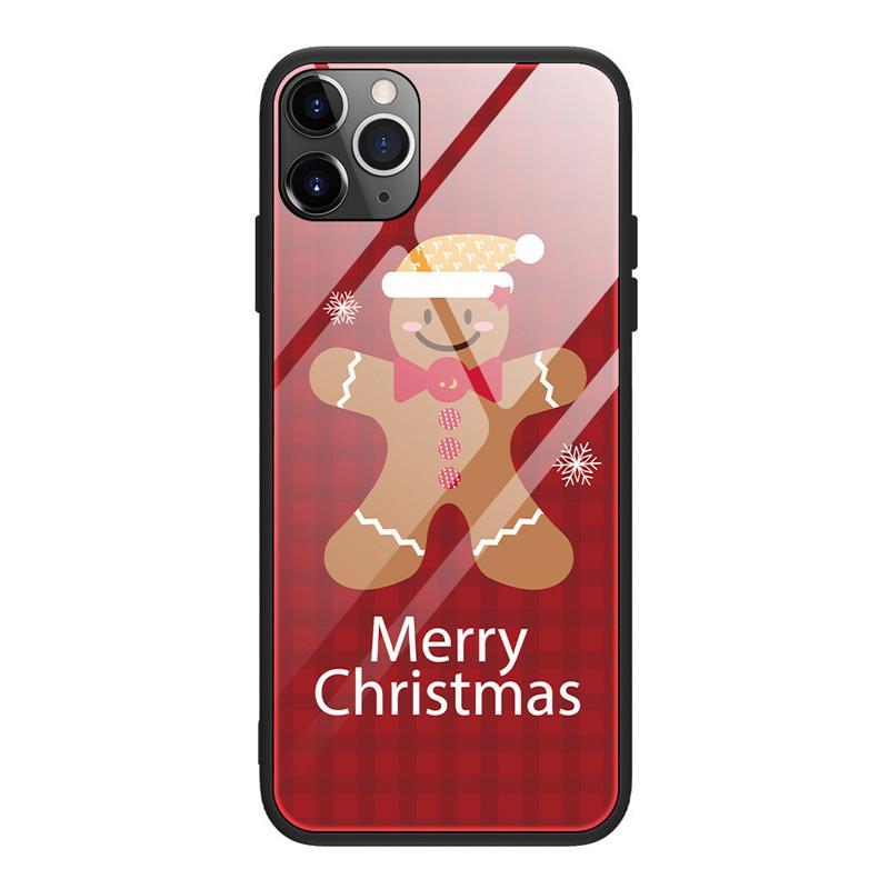NUOVA Custodia multifunzione Cassa natalizia Slim Slim And Hard Pneumatico Pneumatico antiurto Cassa del telefono protettiva per iPhone 12 11 Pro Max XR X XS MAX7 8 6S