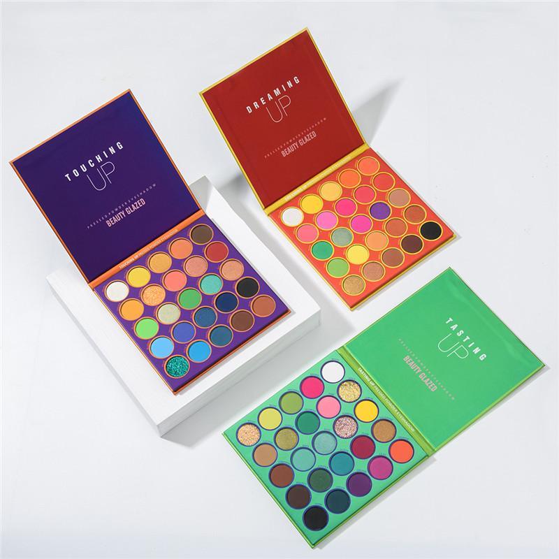Застекленная красота 25 цветов теней для век Палитра Peartrectructle Highlight Matee Shimmer Eye Shadow Eyes Makeup Цветовая доска косметика