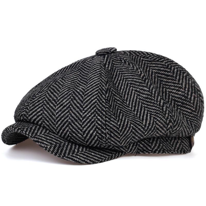 Newsboy Fashion Lana Mens Herringbone Piatto Donne da uomo Uomo Britannici Pittori Britannici Morbido Autunno Caps Inverno Cappelli Casquette