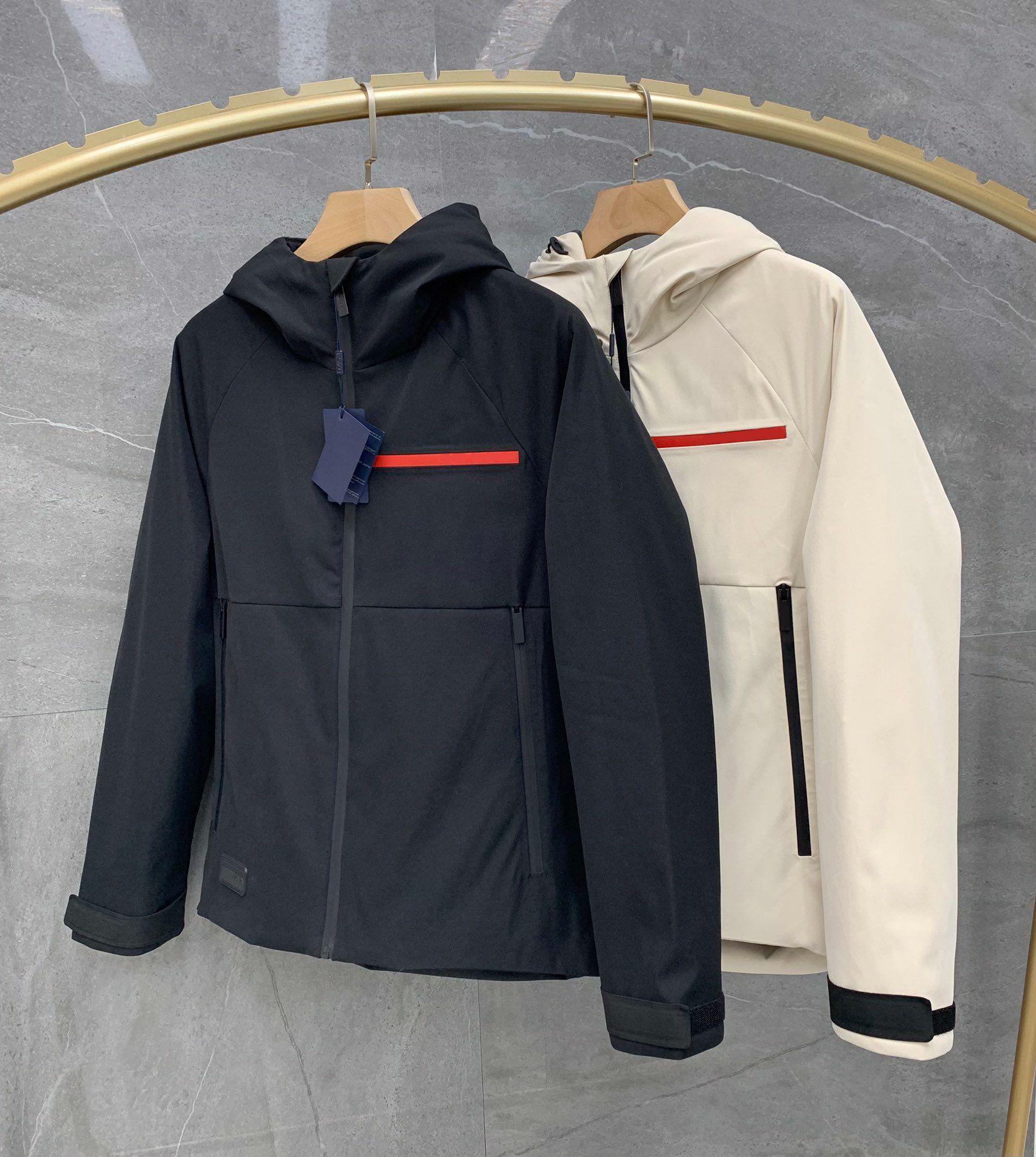 20 ss Herren Down Jacket Marke Retro Neue Winterjacke Stehkragen Nähte Kontrastübergroßer weißer Gänse nach unten winddicht und Regenschutz
