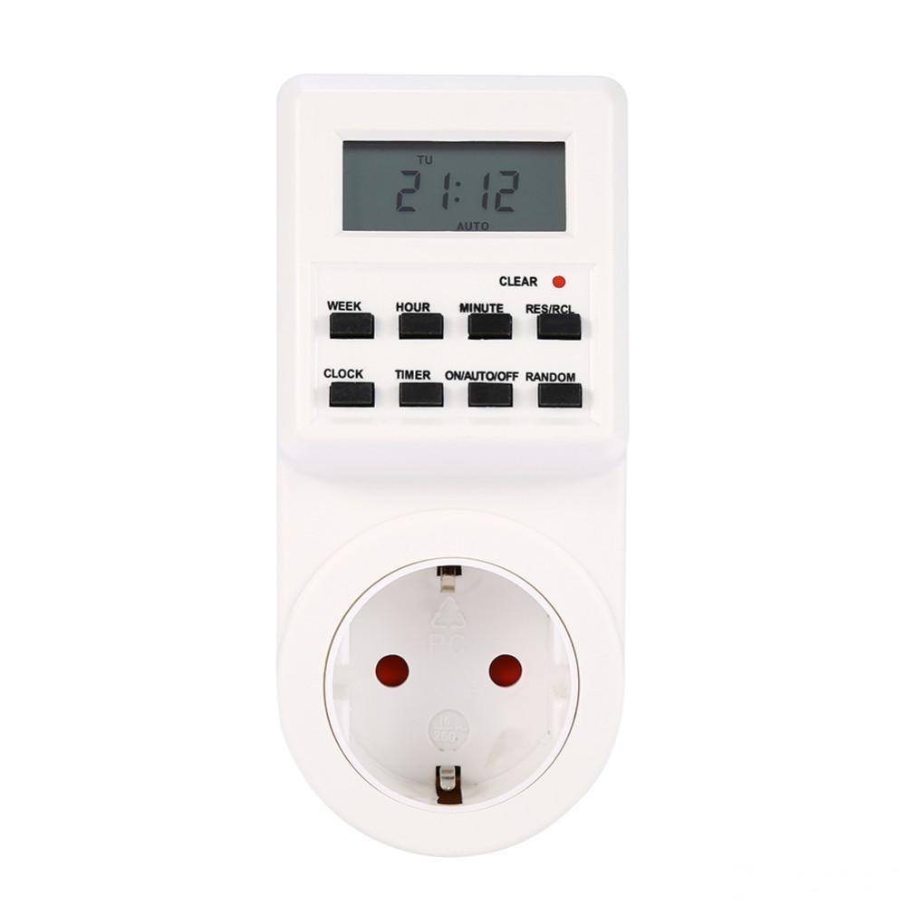 12/24 часа 7 дней / неделя EU / US / UK / AC Plug программируемый таймер коммутатор разъем Цифровой ЖК-электронный модуль Smart Home