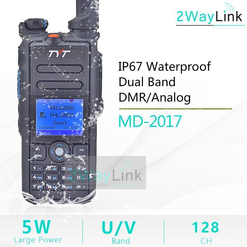 TYT MD-2020 Двойной DMR DMR аналоговый цифровой двухсторонний радио 136-174 МГц 400-480 МГц MD2020 цветной дисплей с помощью кабеля программирования GPS