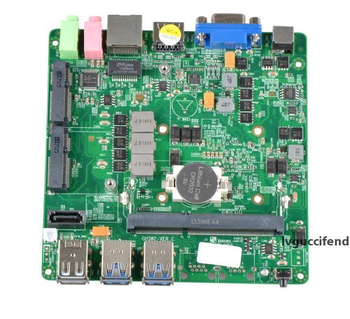 Mini intégré Gigabit double réseau véhicule industriel micro contrôle industriel petite carte mère mini-carte mère PC