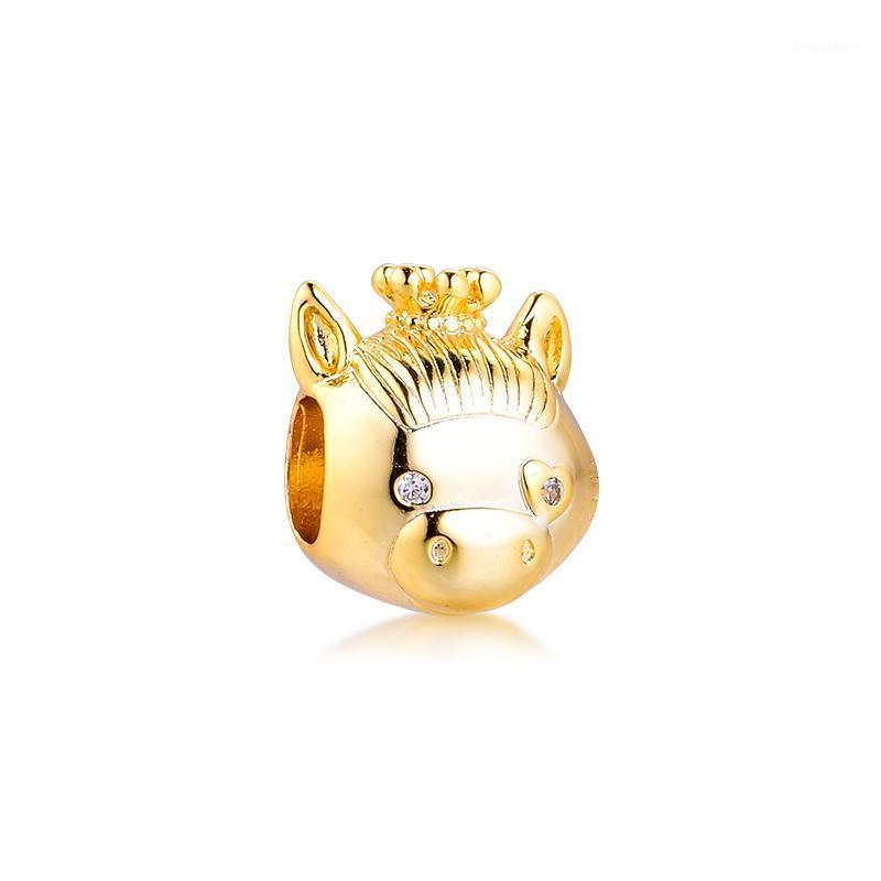 Autres Fits Bracelet 925 Sterling Silver Bijoux brillants Cheval Charme Perles Pour Femmes Diy Faire Kralen Pulseras en gros1