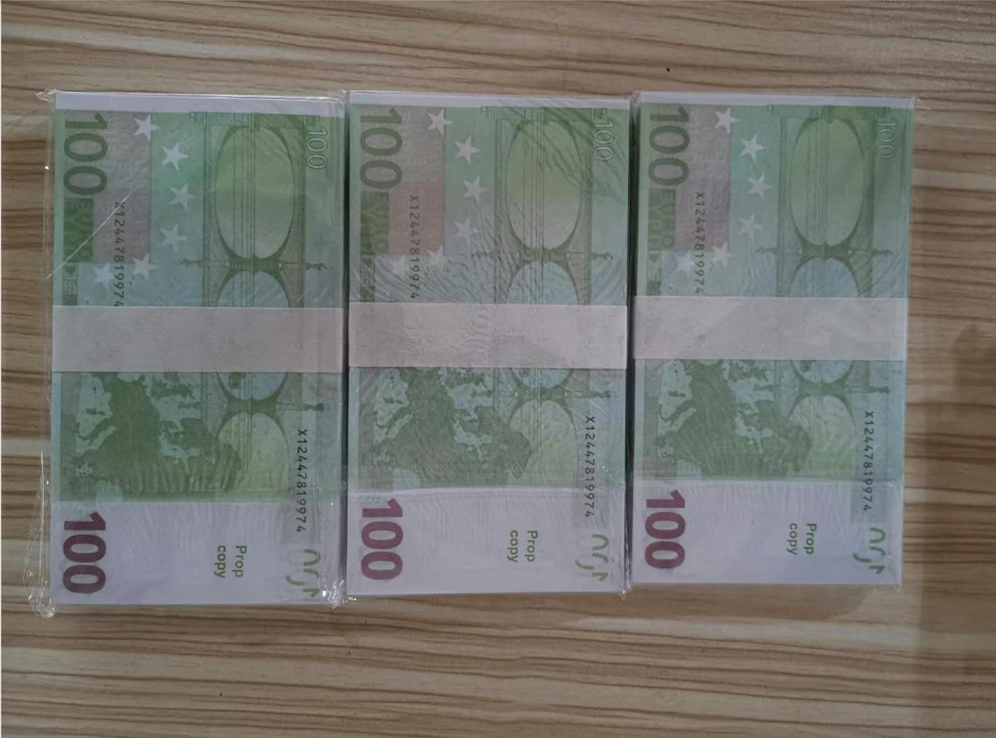 Euro Magic Le100-46 Nuovi puntelli Biglietto carta Euro Soldi 100 FMXUD Billet Billet Bambini Gift Giocattolo Prop Counterfeit Faux UVNFJ