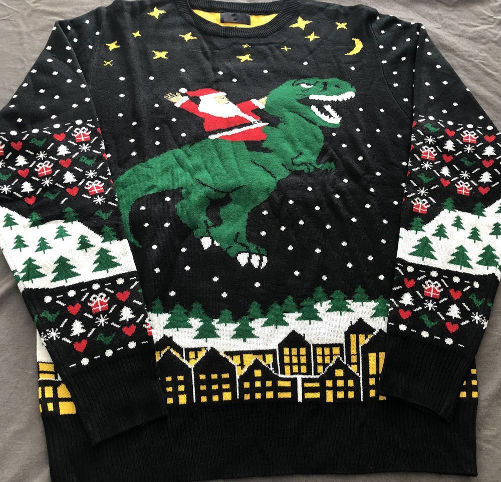 Heißer Verkaufspaar Unisex lose benutzerdefinierte Strick Weihnachten Jumper Pullover Designer Hässliche Weihnachtsstrickjacke