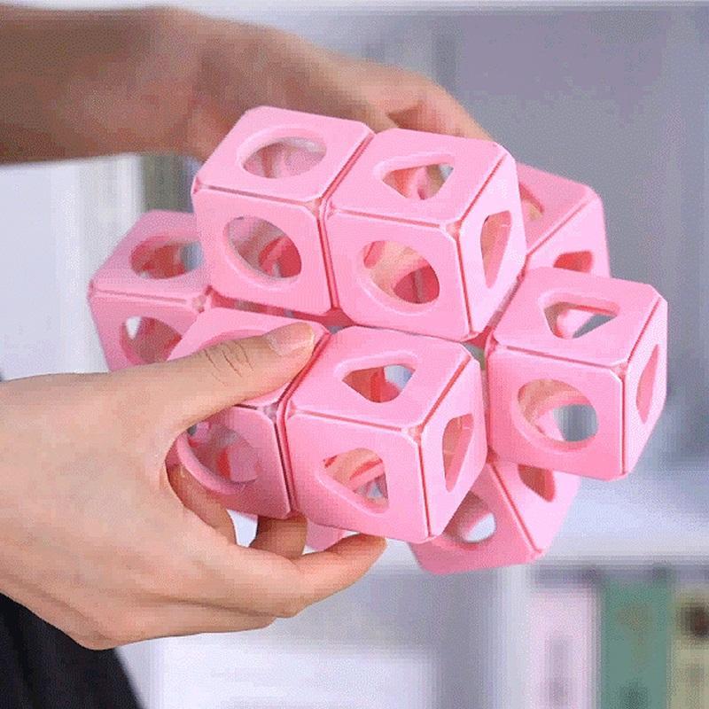 Denkbarer Body Rubik's Cube Intelligente Montage Multi-Body Form Puzzle Space Denken Spielzeug Dreidimensionale Kinderbausteine