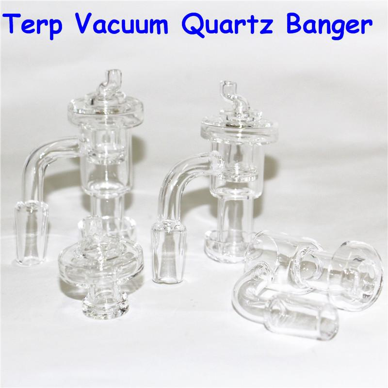 Fully Weld OD 20mm Mini Terp Slurper 2.5mm Wall Quartz Banger Nails with carb caps For Glass Water Bongs glass nectar collector