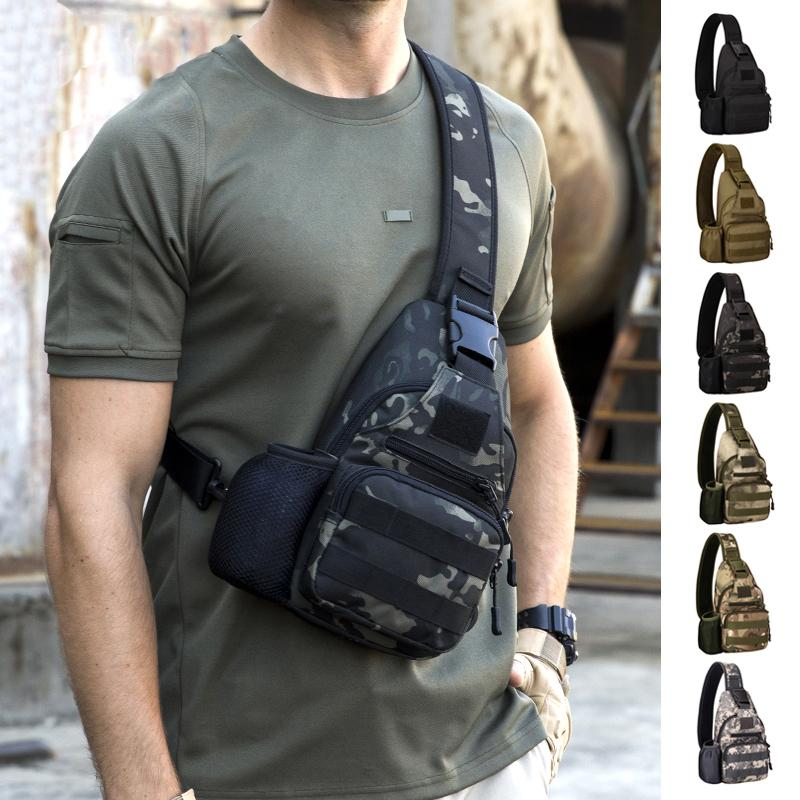 Outdoor Sports Bag Shoulder Travel Hiking Trekking Bag Cycling Climbing Backpack USB Charge Anti Theft Tactical Bags