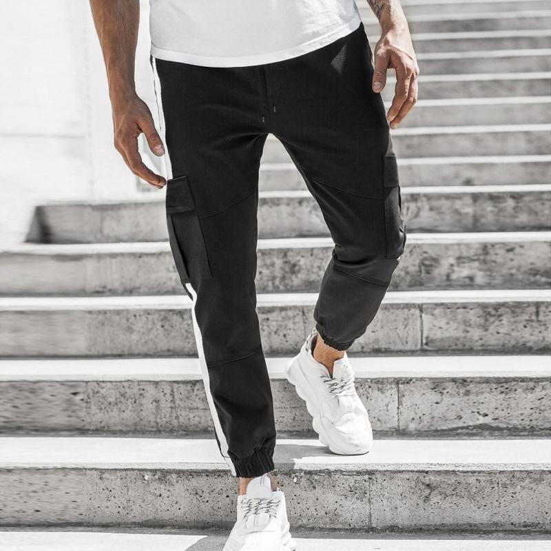 Erkek Pantolon Daigelo 2021 Yan Cepler Kargo Harem Moda Rahat Streetwear Erkek Joggers Spor Rahat Pantolon