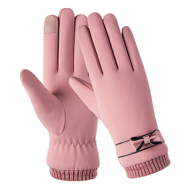 Winter Women Gloves Fashion Windproof Waterproof Plush Warm Mittens Touch Screen Skin-friendly Soft Female Gloves