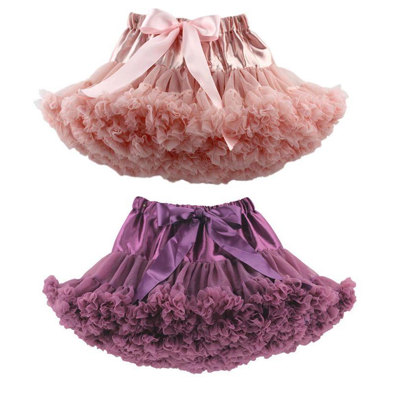 여자 1 2 4 6 8 10 12 YRS 크리스마스 투투 할로윈 얇은 명주 그술 솜털 스커트 아기 소녀 댄스 발레 스커트 Petticoat 다채로운 공 가운 Y1201