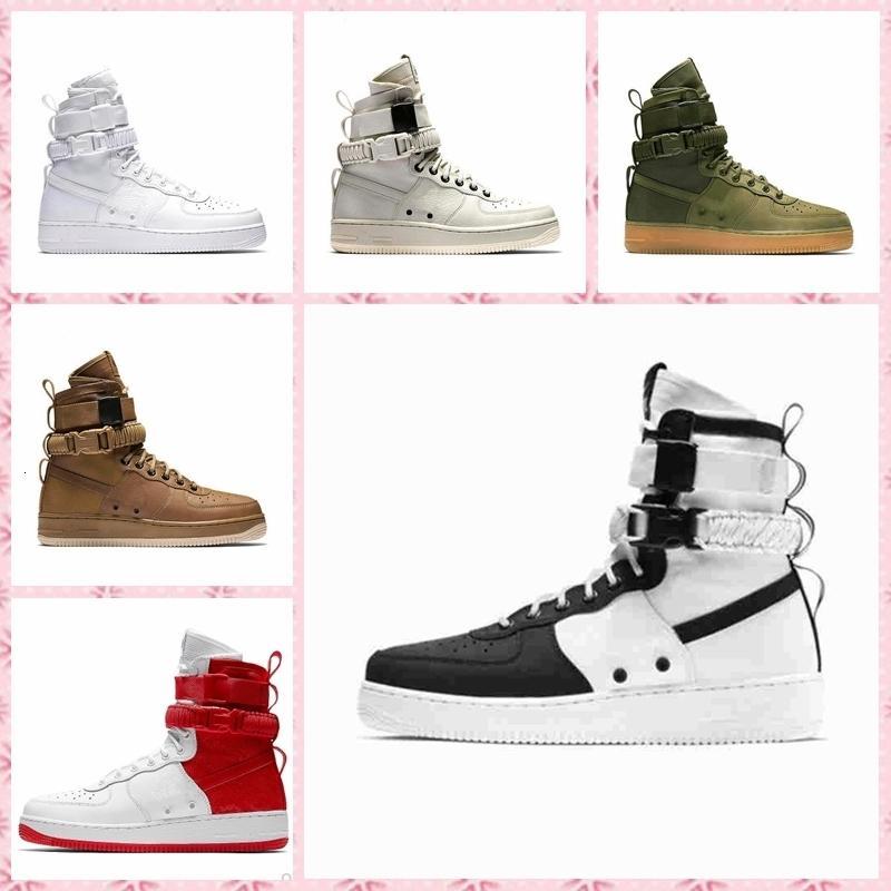 Barganha venda cortiça para menwomen alta qualidade um 1 sapatos casuais baixo corte toda branca cor preta sapatilhas casuais tamanho US 5.5-12