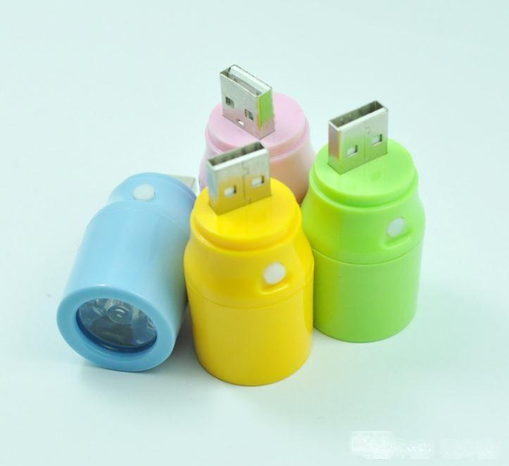 USB пластик Цвет лампы голова с выключателем USB света