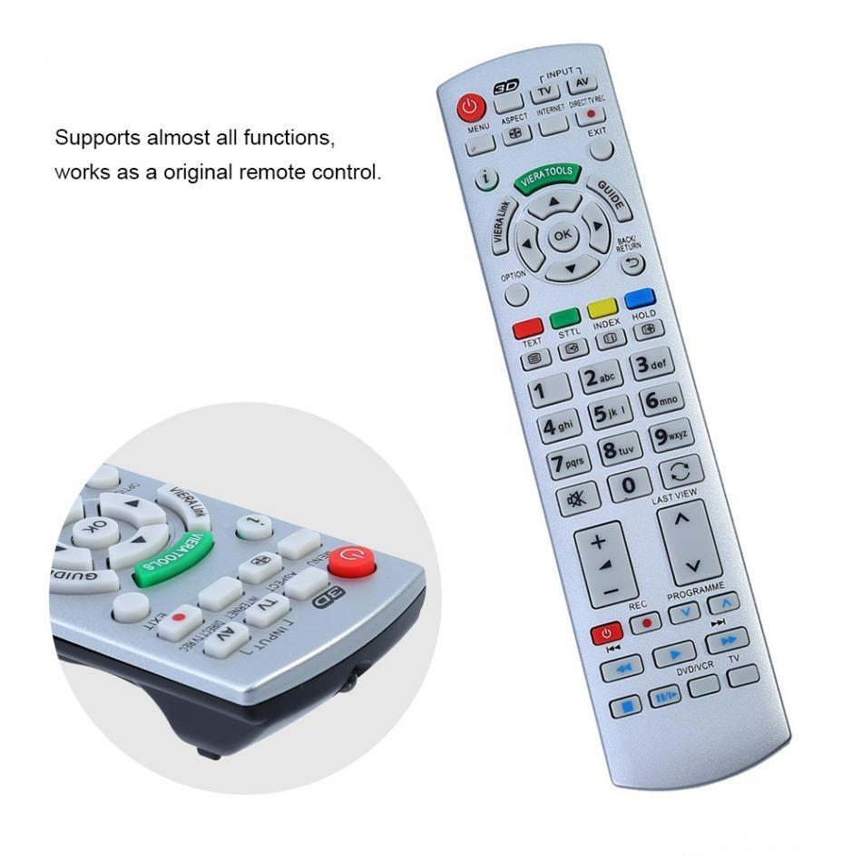 VBESTLIFE Sostituzione del telecomando per Panasonic N2QAYB000504 N2QAYB000673 N2QAYB000785 TX-L37EW30 TX-L42ES31 Controller TV