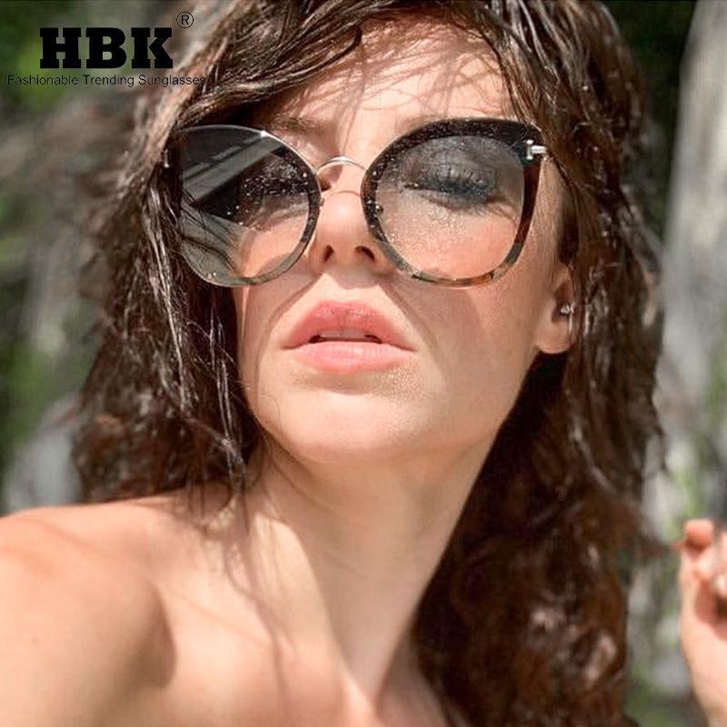 Sombras de ojo de gato para mujeres Sexy Gafas de sol 2020 Diseñador de marca de moda Vintage Retro Triangular Cateye Gafas Mujer Eyewear UV400 Raamu