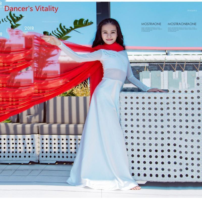 Стадия носить танцевальный танец живота Практика костюм женщины 2021 Flounced платье Восточная производительность одежда одежда одежда жилет Suit1