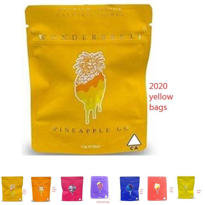 Bliss 10x12.4cm Mylar Proof Edibles Bags Wonderbrett Strawberry Medicated Odore Borse locali Yxlam Bdegarden