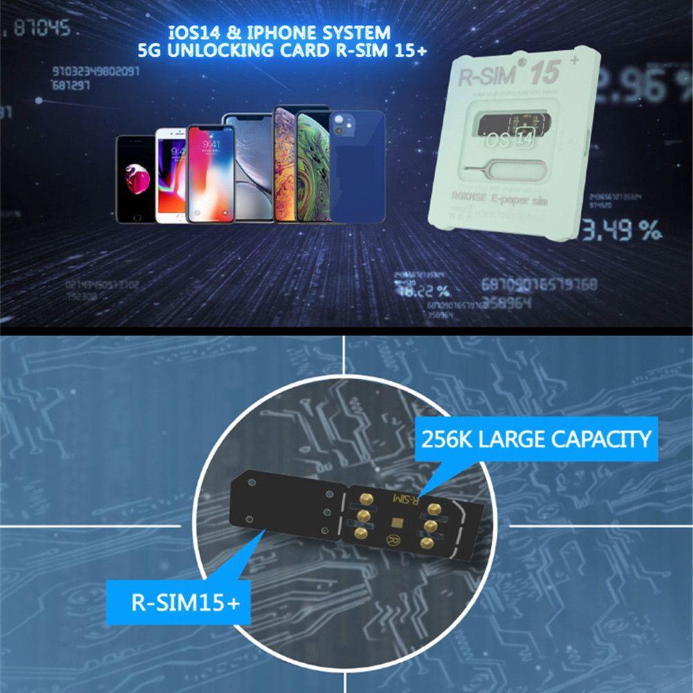 2020 RSIM 15+ R-SIM15+ Nano Unlock RSIM Card For iPhone 12 Pro XS MAX XR X 8 7 6 iOS14 Lot