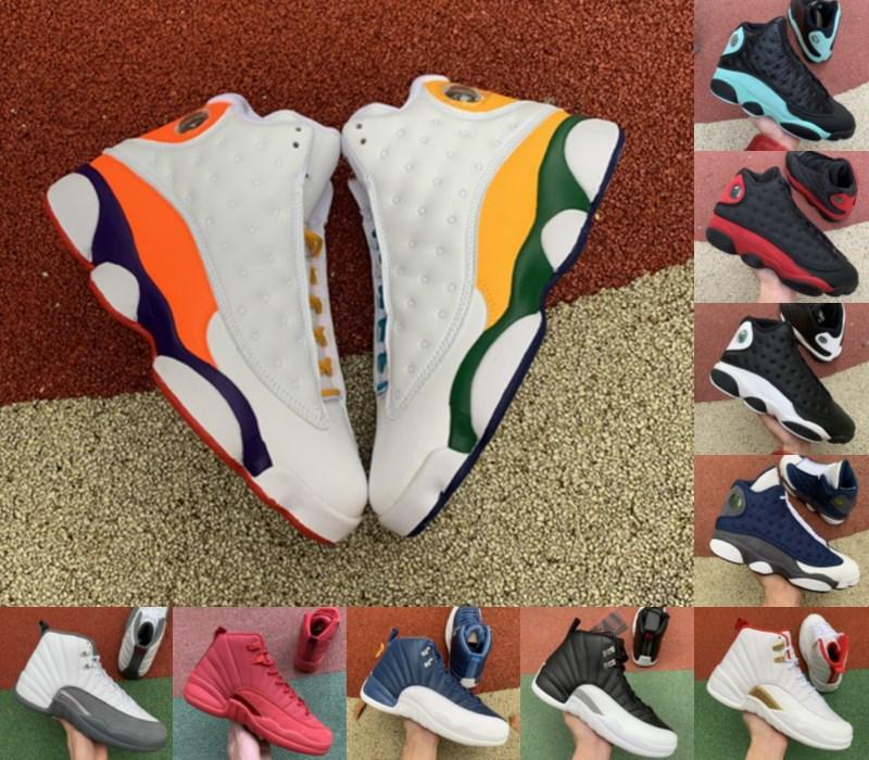 2020 Высокое качество Jumpman Fiba Ovo Hot Punch Game Royal 12 12s Мужская баскетбольная обувь Черный Cat 13s Chicago Taxi DMP Женщины Спортивные кроссовки