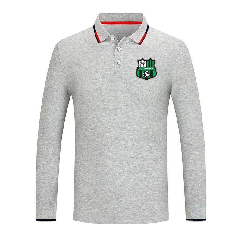 Sassuolo Unisexe Golf Série de golf Polo revers manche à manches longues chemise de rue à la mode pure couleur pure chemise confortable polo