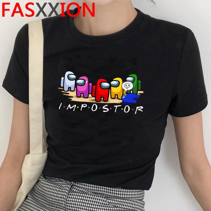 Harajuku среди нами графические летние футболки мужчины хип-хоп уличная одежда прохладная футболка милый аниме аниме аниме amoung американские футболки графические верхние тройники мужчина Q1126