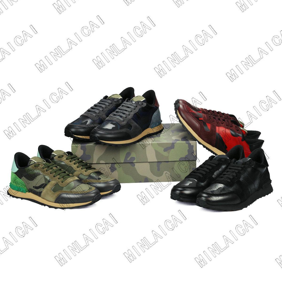 Herrennietsschuh Wildleder Bolzen Frauen Camouflage Luxurys Designer Sneakers RunnerTrainers Designer Platform Freizeitschuhe