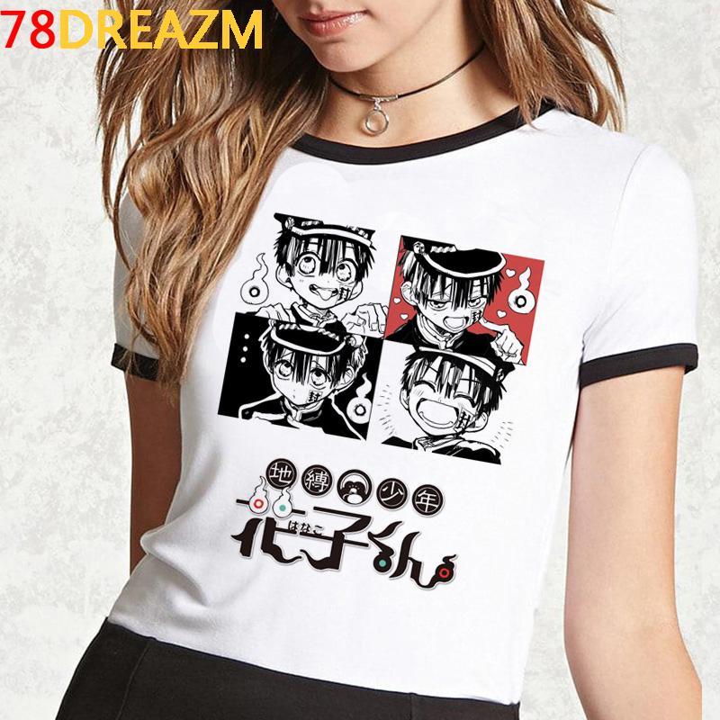 Bound Kawaii igienici calda t shirt estate delle donne giapponesi Top Cartoon Anime Hanako Kun Graphic T-shirt unisex Harajuku maglietta femminile