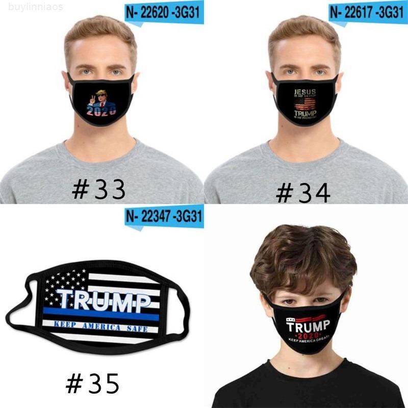 Многоразовая америка для детей маски великолепная мода промывают для взрослых лицо рот из США президент выборов 100 шт. Trump Mask T1i232 Eage
