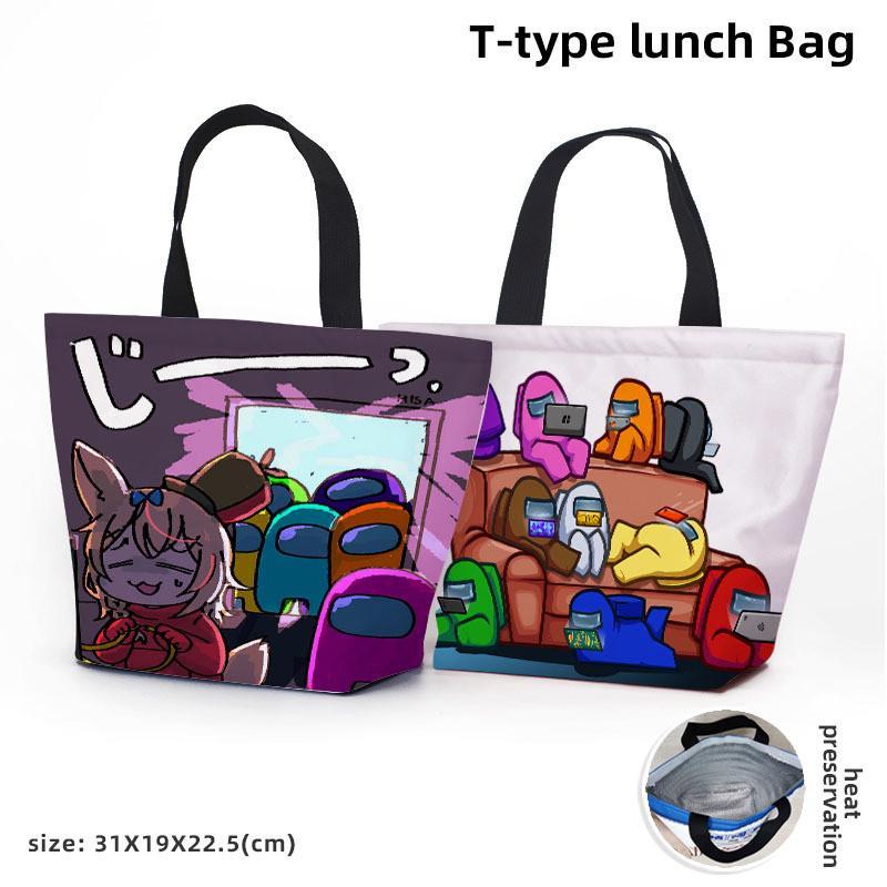 Caliente EEUU CZ10 Almuerzo Almuerzo Picnic Bag Women Totes Handbag Awje Entre Bolsa de anime Enfriador de almacenamiento Caja de dibujos animados Juego Organizador térmico Almuerzo Insu Krcm