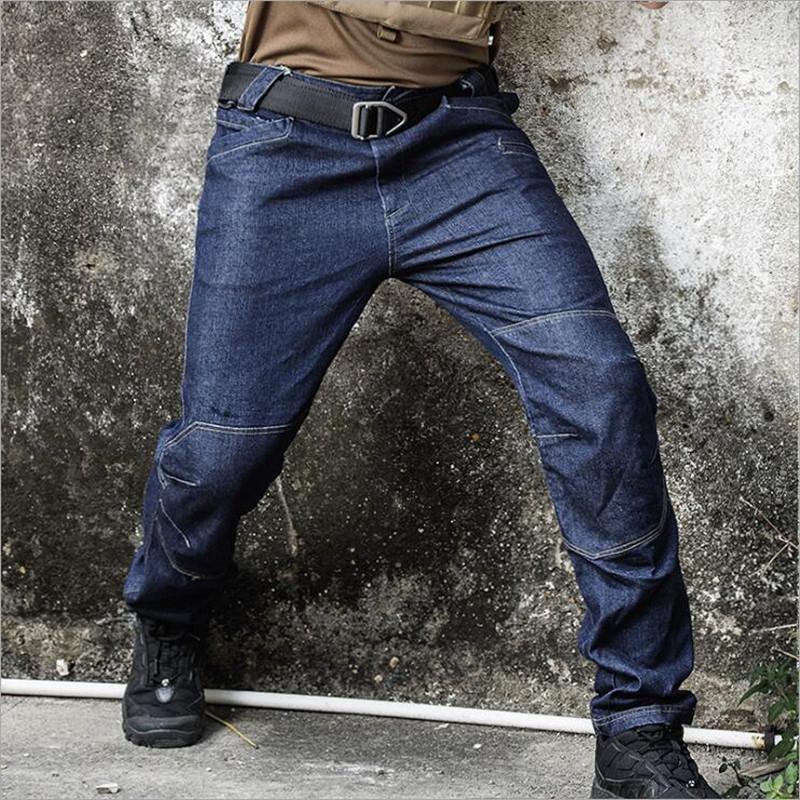 Jeans pour hommes mâle en plein air tactique lâche street sténo-poche