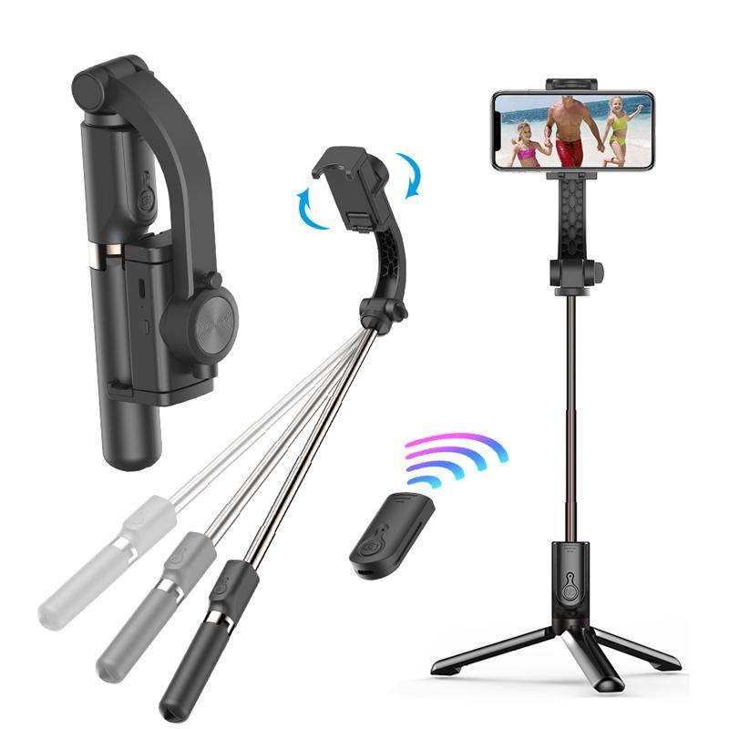GS30 Handheld Grip Gimbal Estabilizador Trípode Anti-Shake Selfie Soporte Soporte Soporte ajustable Bluetooth Wireless Bluetooth Control remoto para Show en vivo