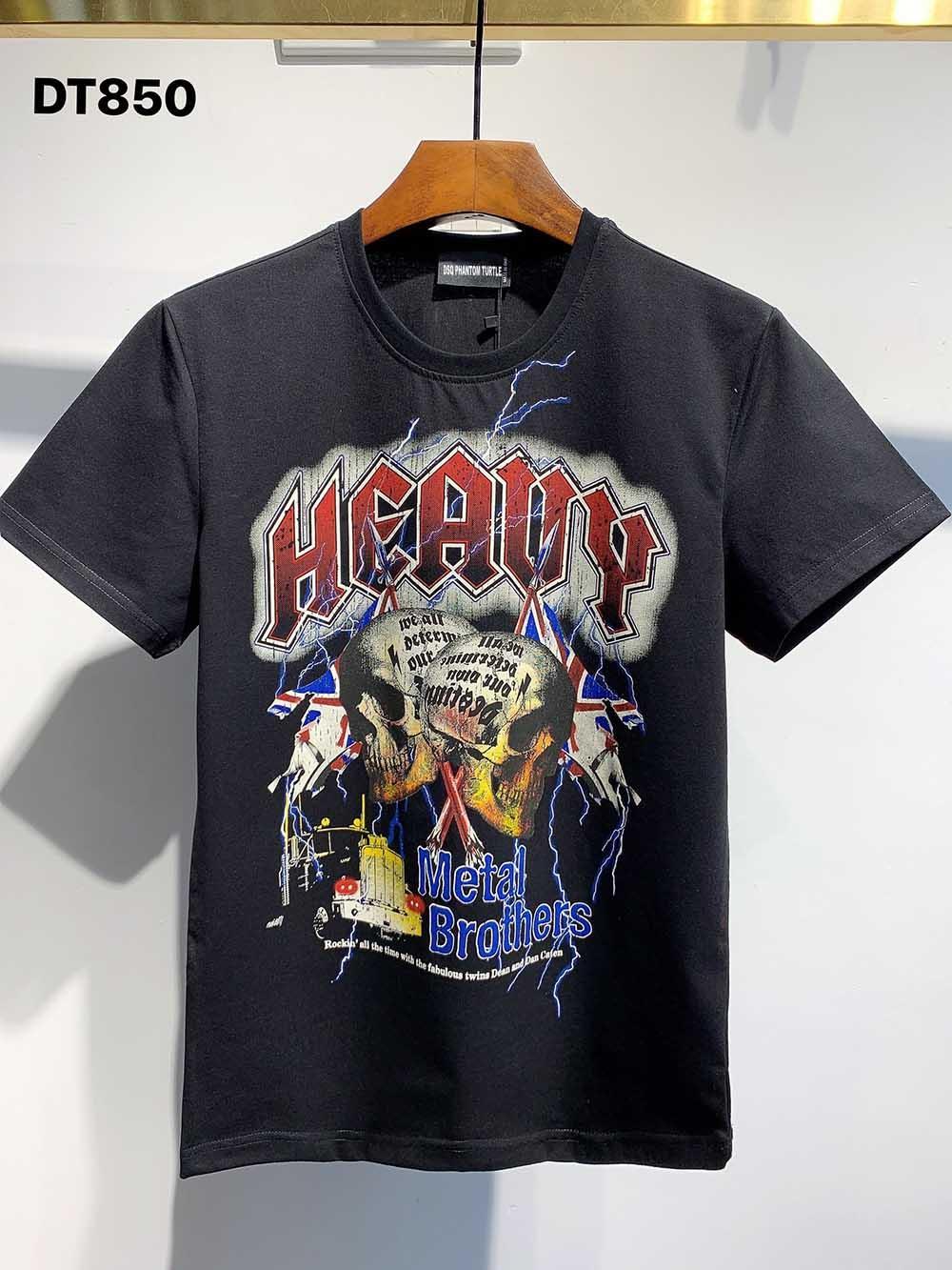 DSQ Phantom Turtle 2021ss New Mens Designer T-shirt Paris Mode T-shirts Été DSQ T-shirt T-shirt Homme Top Qualité 100% coton Top 1161