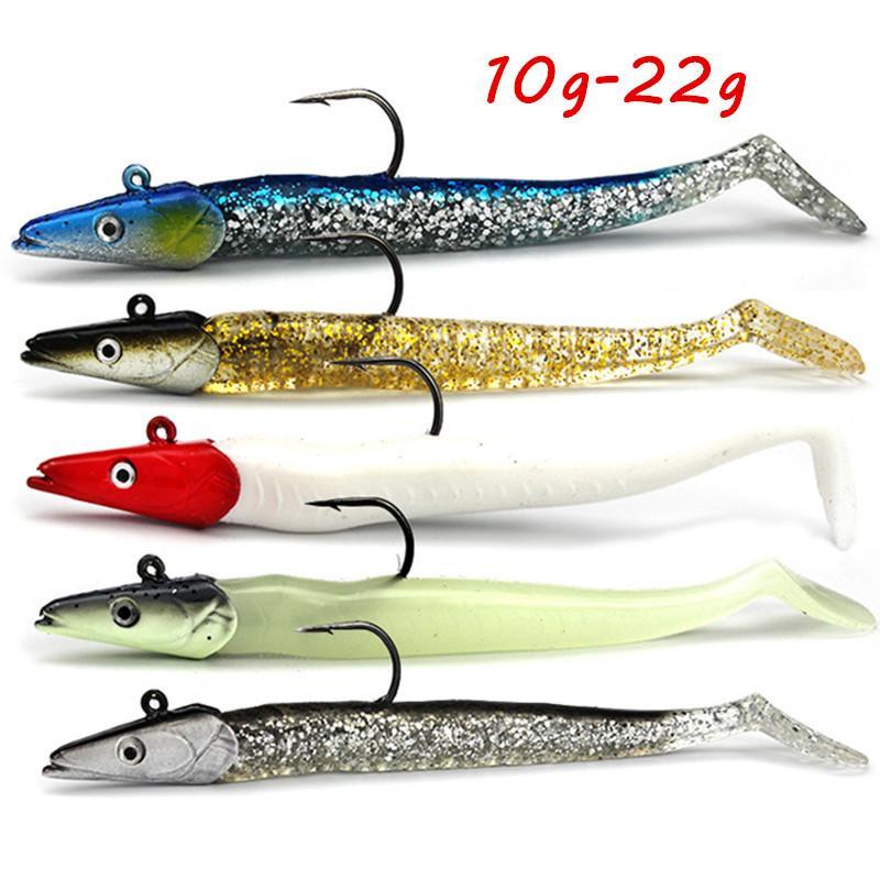 5 Couleur Mixte 11cm 10-22g Jigs Baits Soft Baits Lure Hook Single Crochet Crochets Pesca Pêche Tackle Bl_297